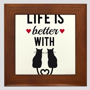 Life is better with cats, text design, word art Fr