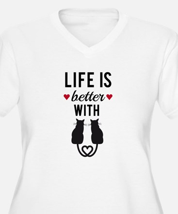 Life is better with cats, text design, word art Pl