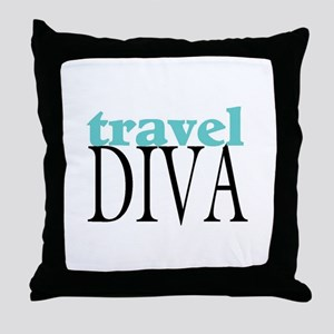 Travel Diva Throw Pillow