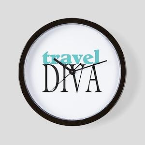Travel Diva Wall Clock