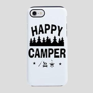 Happy Camper Fun Vacation Quote iPhone 7 Tough Cas