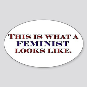Feminist Oval Sticker