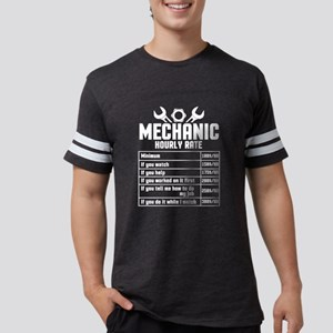 Mechanic Hourly Rate T Shirt Mens Football Shirt