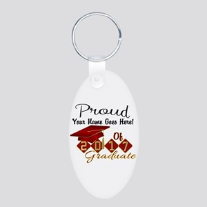 Proud 2017 Graduate Red Keychains