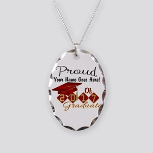 Proud 2017 Graduate Red Necklace