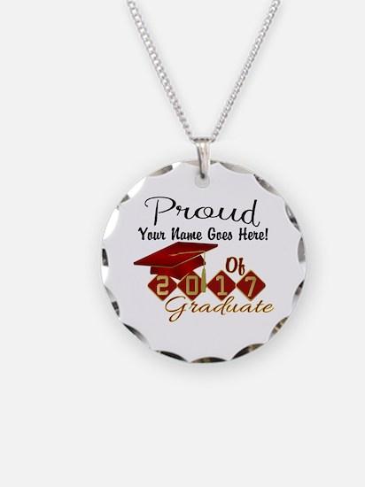 Proud 2017 Graduate Red Necklace