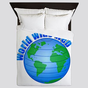World Wide Web Globe Queen Duvet