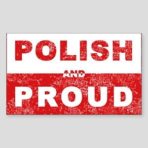 Polish & Proud Rectangle Sticker