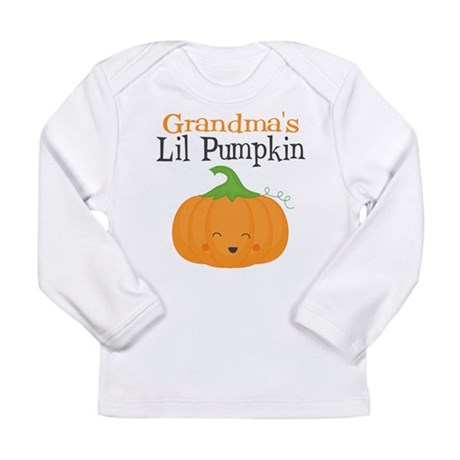 Grandmas Little Pumpkin Long Sleeve Infant T-Shirt ...