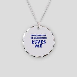 Somebody in El Salvador Loves me Necklace Circle C