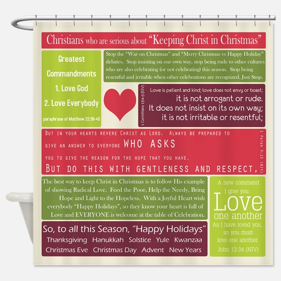 Christ in Christmas2013 - square Shower Curtain