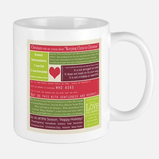 Christ in Christmas2013 - square Mugs