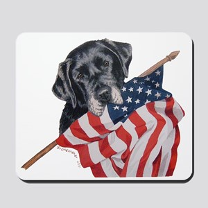 Patriotic Black Labrador Mousepad