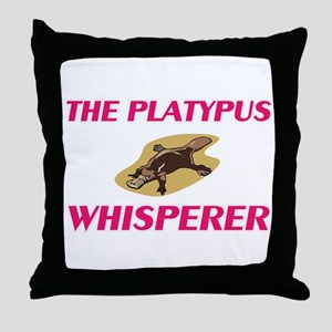 The Platypus Whisperer Throw Pillow
