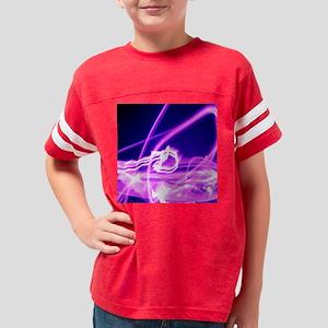 Hot Pink Flame Youth Football Shirt