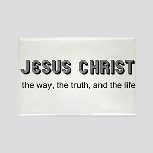 Jesus is the Way Rectangle Magnet