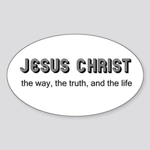 Jesus is the Way Oval Sticker