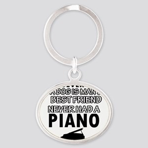 piano vector designs Oval Keychain