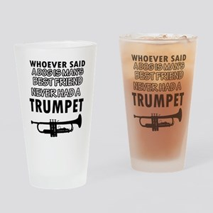 trumpet vector designs Drinking Glass