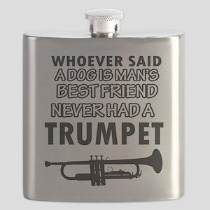 trumpet vector designs Flask