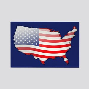 """""""United States Bubble Map"""" Rectangle Magnet"""