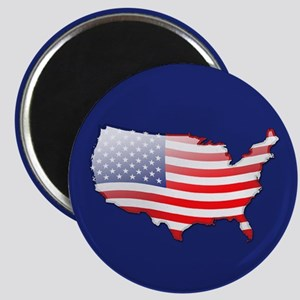 """""""United States Bubble Map"""" Magnet"""
