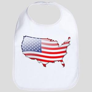 """""""United States Bubble Map"""" Bib"""