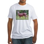 Doe in Grass Fitted T-Shirt