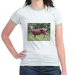 Doe in Grass Jr. Ringer T-Shirt