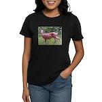 Doe in Grass Women's Dark T-Shirt