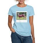 Doe in Grass Women's Pink T-Shirt