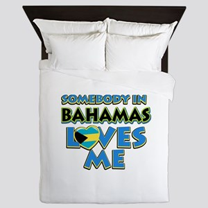 Somebody in Bahamas Loves me Queen Duvet