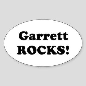Garrett Rocks! Oval Sticker