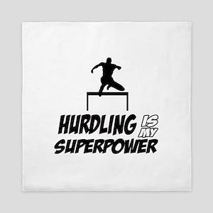 hurdling is my superpower Queen Duvet