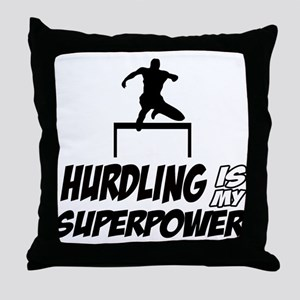 hurdling is my superpower Throw Pillow