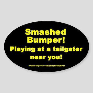 Smashed Oval Sticker