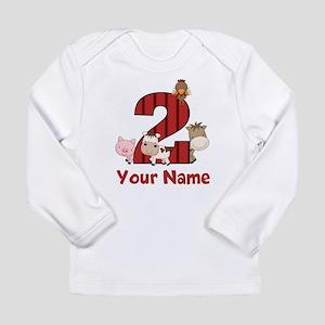 2nd Birthday Farm Long Sleeve T-Shirt