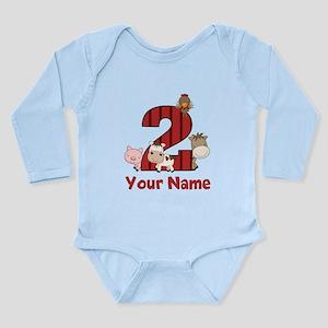 2nd Birthday Farm Body Suit