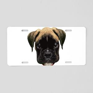 Boxer Face 001 Aluminum License Plate