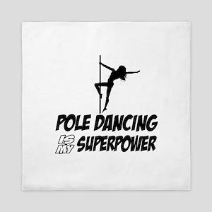 pole dancing is my superpower Queen Duvet