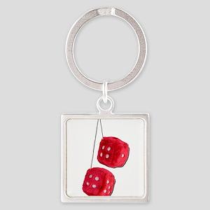 RedFuzzyDice073011 Keychains