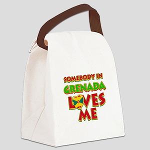 Somebody in Grenada Loves me Canvas Lunch Bag