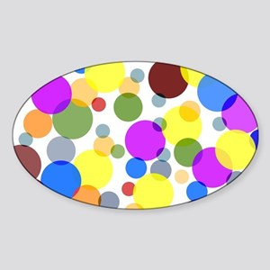 Polka Dots Sticker (Oval)