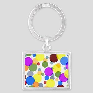 Polka Dots Landscape Keychain
