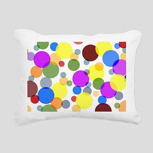 Polka Dots Rectangular Canvas Pillow