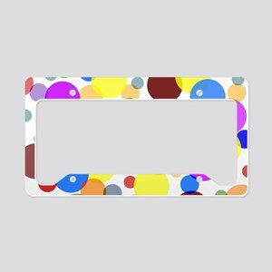 Polka Dots License Plate Holder
