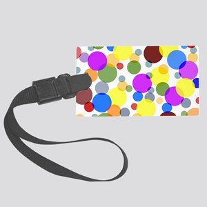 Polka Dots Large Luggage Tag