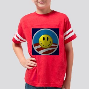 ObamaSmiley Youth Football Shirt