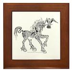 Invitation to the Unicorn Framed Tile