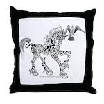 Invitation to the Unicorn Throw Pillow